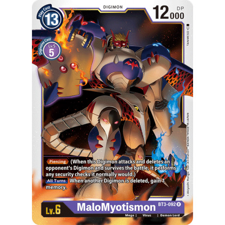 BT3-092 R MaloMyotismon Digimon