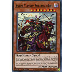 YGO BLVO-EN025 SuR Ancient Warriors - Rebellious Lu Feng