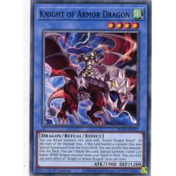 YGO BLVO-EN037 C Knight of Armor Dragon