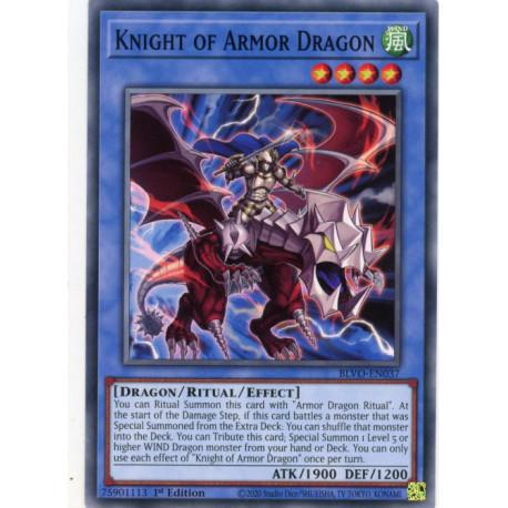 YGO BLVO-EN037 C Knight of Armor Dragon