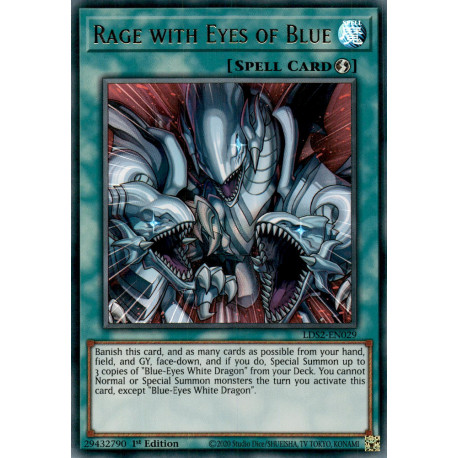 YGO LDS2-EN029 URGreen Rage with Eyes of Blue