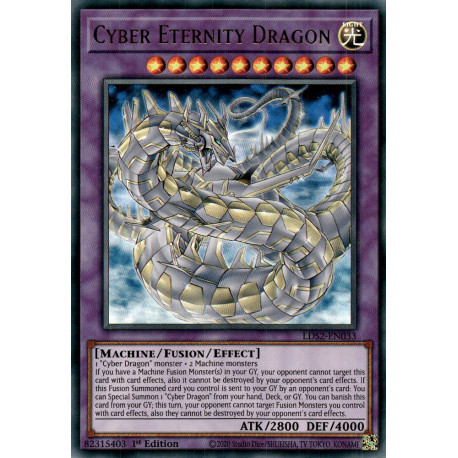 YGO LDS2-EN033 CRGreen Cyber Eternity Dragon