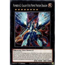 YGO LDS2-EN053 C Number 62: Galaxy-Eyes Prime Photon Dragon
