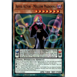YGO LDS2-EN060 C Abyss Actor - Mellow Madonna