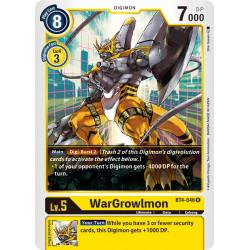 BT4-046 R WarGrowlmon Digimon