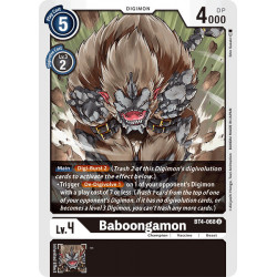 BT4-068 U Baboongamon Digimon