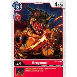 ST1-07 AA U Greymon Digimon...